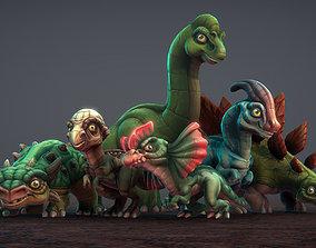 3D model Toon Dinosaurs 2