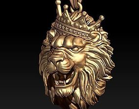 jewellery 3D printable model lion necklace