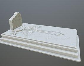 3D printable model tombstone 9