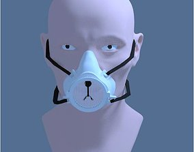 CUTE RESPIRATOR MASK 3D print model