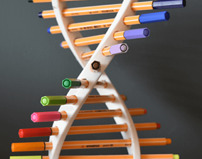 3D print model DNA Pen Holder by TIXEN