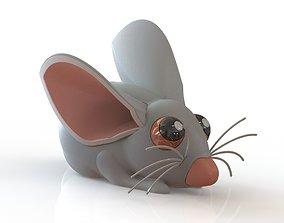 Lovely little mouse plastic 3D printable model