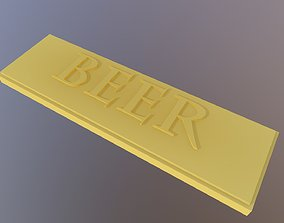 BEER label 3D print model