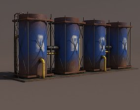 Old Tanks Factory 3D model