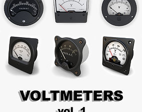 Analog Voltmeters collection vol 1 3D model