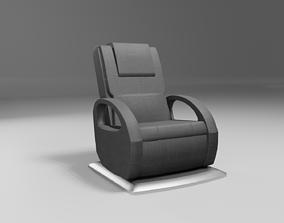 3D model massage wellness chair modern black