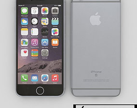 3D Apple Iphone 6s Silver