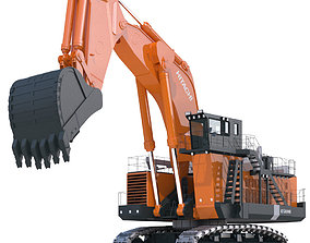 Excavator Hitachi EX8000 materials 3D model