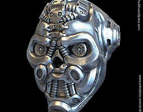3D printable model Mech robotic skull vol1 ring jewelry