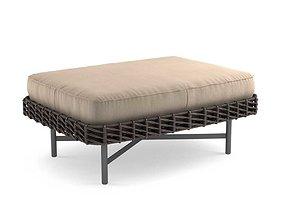 Potocco ROPU Upholstered rectangular pouf 3D