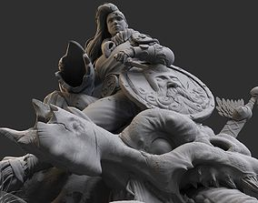 The Shield Maiden 3D model