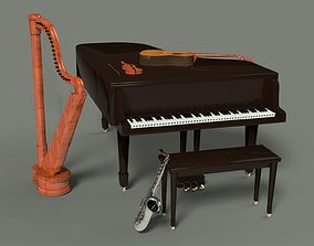 3D model Musical instruments