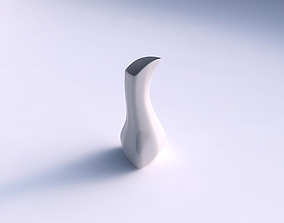 Vase puffy bent triangle smooth 3D printable model