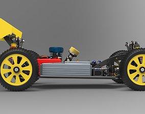 3D model racing RC Buggy 4x4