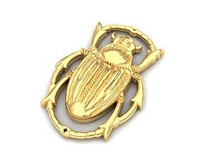 Beetle pendant 3D printable model
