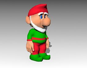 3D model animated Elf Toon