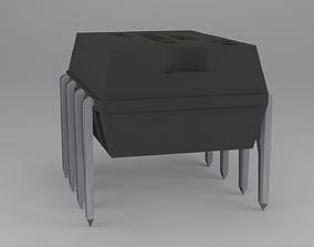 3D model ATTiny85 Microcontroller