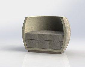 shell armchair 3D model