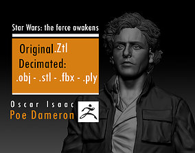 Oscar Isaac - Poe Dameron - Star Wars 3D printable model 2