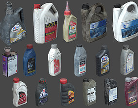 3D model Garage Bottles and Canisters Pack