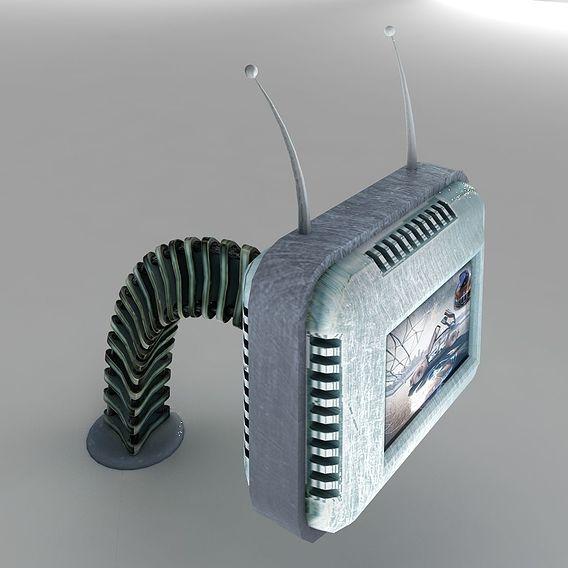 Futuristic Retro TV