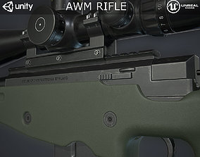 AWM Sniper Rifle 3D model