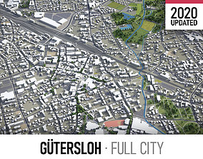 3D model Gutersloh - city and surroundings