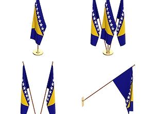 3D model Bosnia and Herzegovina Flag Pack