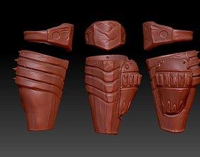 3D printable model predator 2 inspired shin guard armour