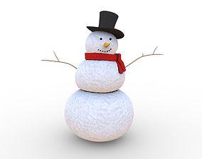 various snowman 3D model