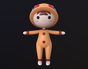 Asset - Cartoons - Toys - Doll - Rig 3D