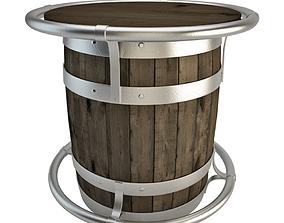 3D Barrel Table