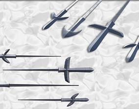 Japanese arrow head set 4 3D print model