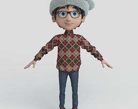 Cartoon Boy Christmas 3D model