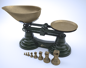 3D Vintage Librasco Weighing Scales