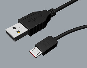 Original Micro USB 3d model design