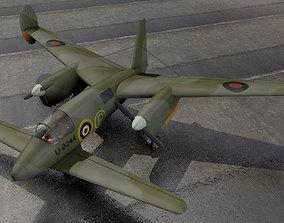 warplane Miles M-39B Libellula 3D