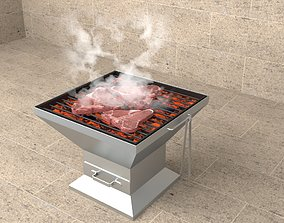 eating Barbecue Grill 3D model