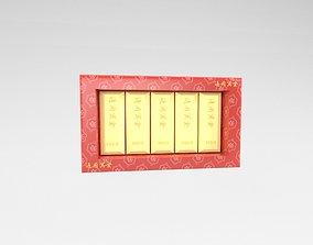 3D asset realtime Funeral Paper Gold v1 001