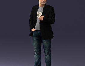 Man in jacket 0020 3D Print Ready miniatures