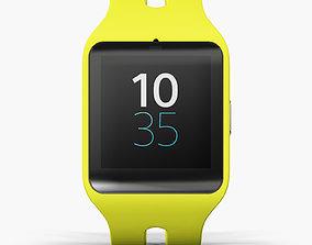 Sony SmartWatch 3 Yellow 3D model
