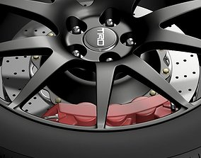 3D model TRD Toyota GT 86 wheel