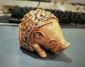 3D model coffeebean pig sculpture -3d print model- 1