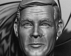 007 Roger Moore 3d printable portrait