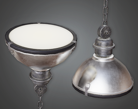 Industrial Hanging Light - HSG - PBR Game Ready 3D asset