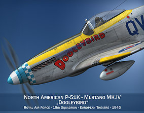 3D North American P-51K Mustang MK IV - Dooleybird
