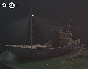 Old Rusty Fishing Boat - PBR and Game-Ready 3D model
