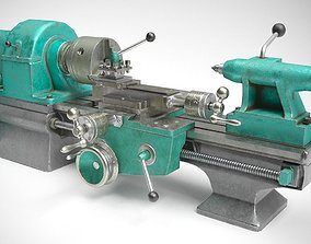 Student Lathe for Metalworking TV16 3D model