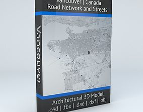 map Vancouver Road Network and Streets 3D model