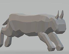 Low Poly Big Cat-3d print tiger